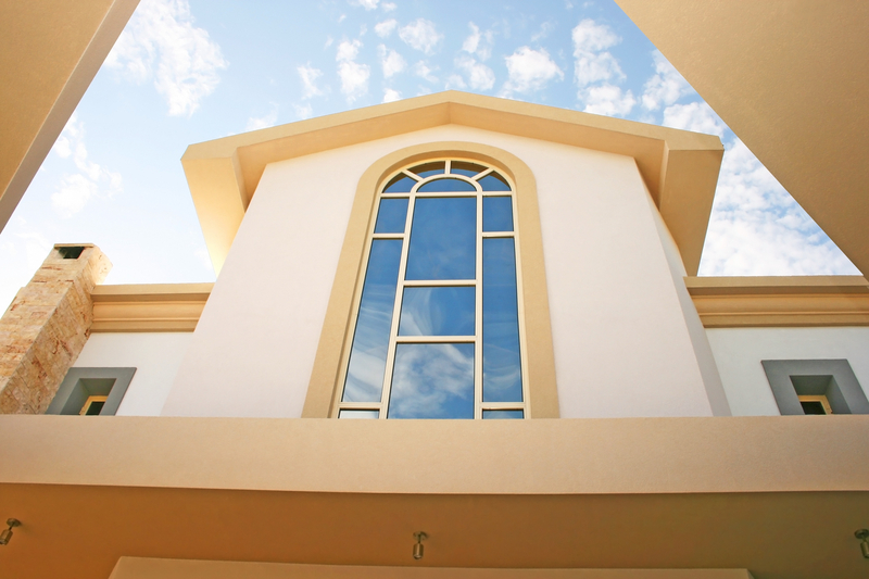 Beautiful huge windows of villa.