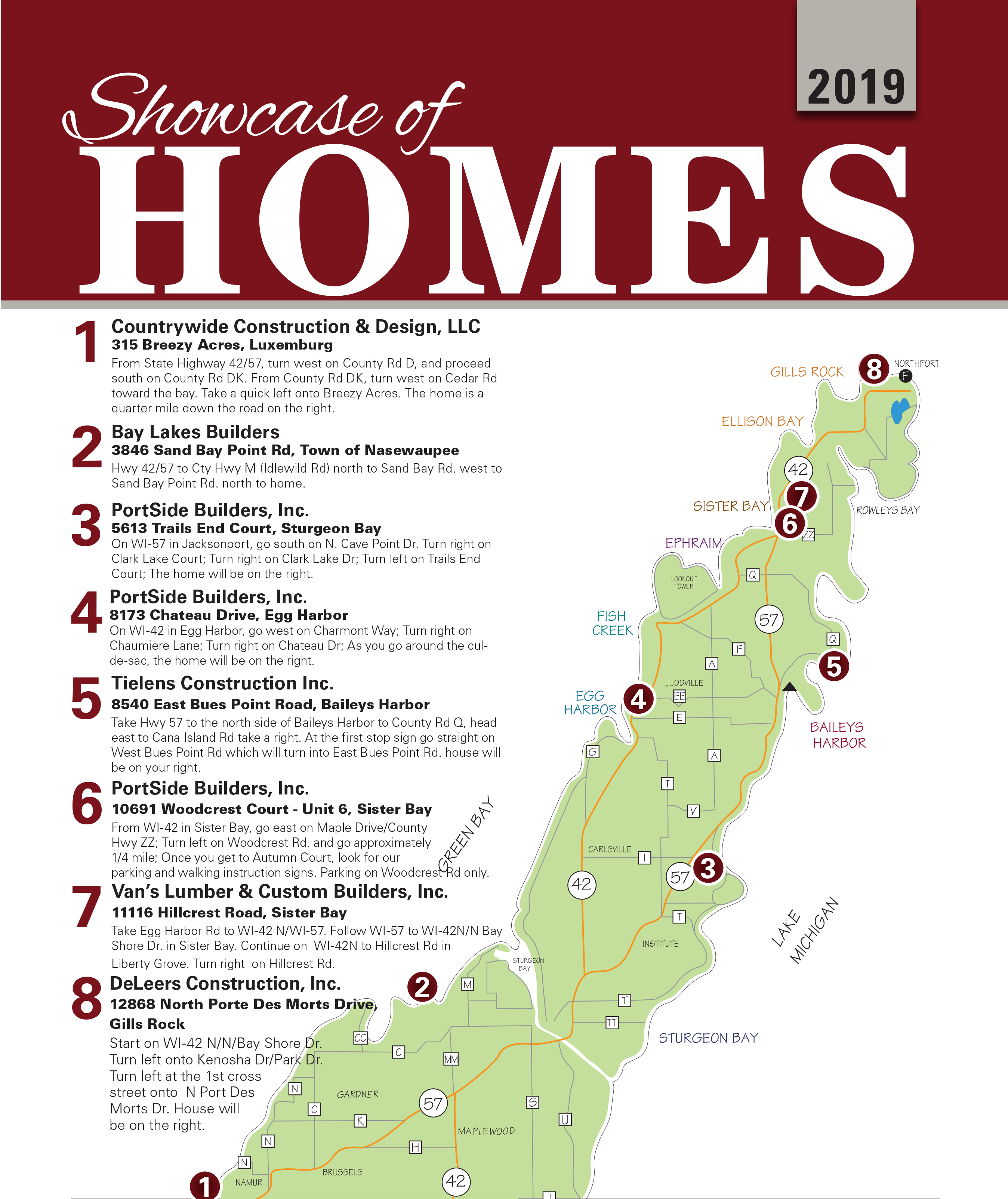 2019-door-county-home-builders-showcase-map