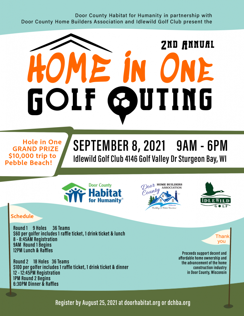 Door County Habitat For Humanity Home in One Golf Outing